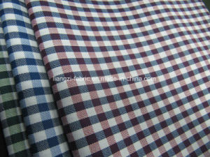 Cotton Yarn Dyed Winkle Free Herringbone Check Fabric for Shirt pictures & photos
