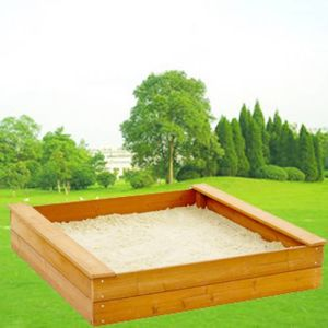 Outdoor Wooden Sandbox Square Sandpit for Kids