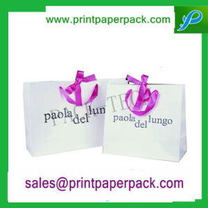 Custom Logo Printed Shopping Bag Luxury Paper Gift Bag Carrier Bag Packaging Bag Kraft Paper Bag with Customized Handle pictures & photos