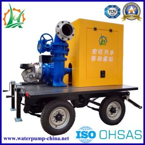 Mobile Big Flow of Diesel Dewatering Mixed-Flow Trailer Pump Sets pictures & photos