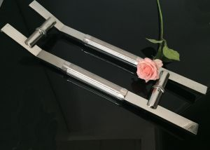 Stainless Steel Square Pipe Glass Door Handle Door Hinge pictures & photos