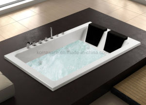 Rectangle Embedded Massage Acrylic Bathtub for 2 Persons (K1721) pictures & photos