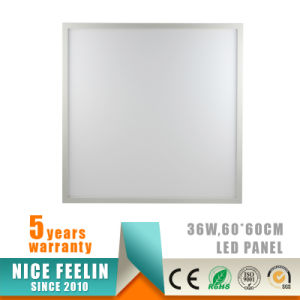 120lm/W No Flickering 36W 60*60cm LED Panel with 5years Warranty pictures & photos