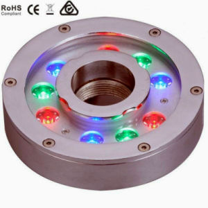 9W RGB Color Change LED Fountain Light Ring pictures & photos