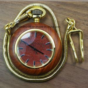 2017 New Analog Quartz Wooden Necklace Pendant Pocket Watch pictures & photos