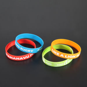Popular Design Colorful Silicone Rubber Wristbands with Debossed Logo pictures & photos