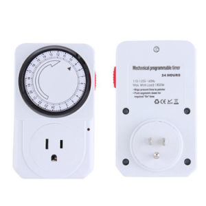 Us Plug 24-Hour Programmable Mechanical Electrical Plug Program Timer Power Switch pictures & photos