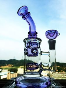 Wholesale 9 Inch Purple Handblown Glass Water Pipe