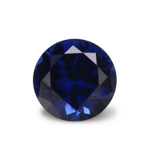 Small MOQ AAA Quality 1mm-5mm Round 34# Blue Corundum Stone Synthetic Ruby Loose Gemstone pictures & photos
