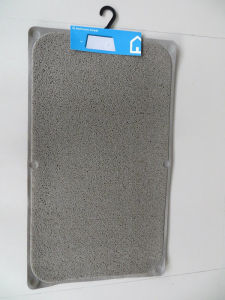 PVC Loofa Bathroom Mat Anti-Slip Shower Rug pictures & photos