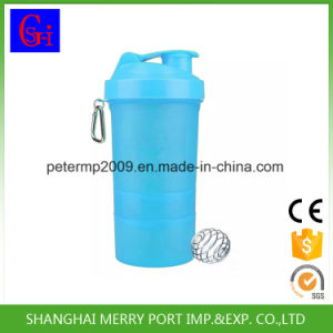 Customized Color Plastic Salad Cup Shaker Bottles Water Bottle with Two Layers Pill Boxes pictures & photos