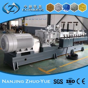 Ce and ISO9001 Zhuoyue Plastic Granules Making Twin Screw Extruder pictures & photos
