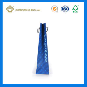 2017 Wholesale Hot Sale Recycled Printed Paper Carrier Bags (with gold foil logo) pictures & photos