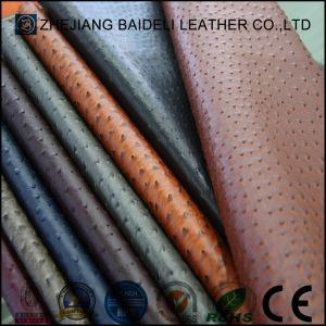Ostrich Design PVC/PU Leather for Furniture and Bag with Fire Resistance pictures & photos