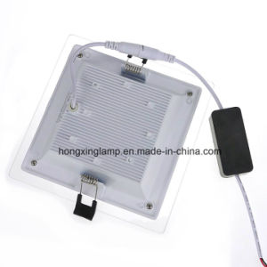 LED Downlight 12W Square Glass LED Panel Light pictures & photos
