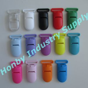 S099-20mm Long Tail Width Smooth Holder Pacifier Clips in 14 Assorted Colors pictures & photos