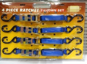 "500kgs Capacity 2"" 25mm Ratchet Lashing Straps with S Hook pictures & photos"