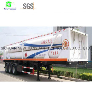 CNG Refueling Daughter Station with Hydraulic CNG Semi Trailer pictures & photos