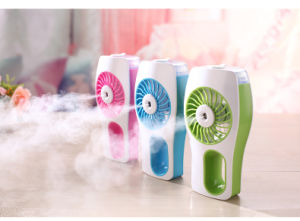 USB Handheld Rechargeable Fan Beauty Humidifier Mist Water Spray Air Conditioner Fan pictures & photos