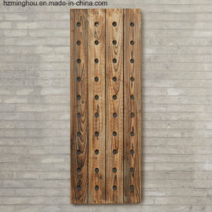 French Style Wall Mounted Wine Display Rack with Wine Holder pictures & photos