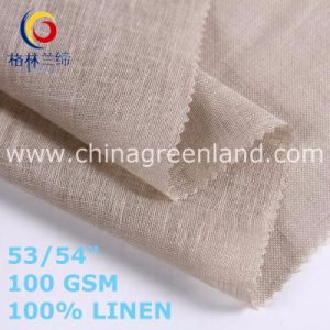 100% Linen Solid Fabric Textile for Clothes Factory (GLLML472) pictures & photos