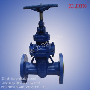 DIN Standard Cast Steel Wcb Pn100 Z45h Non-Rising Stem Gate Valve for Oil Steam Pipe Line