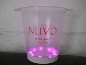 Acrylic Cutomized 12L LED Lighted Ice Bucket pictures & photos
