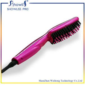 Hair Styling Straightening Electric Ceramic Flat Iron Brush