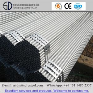 ERW Pre-Galvanized Steel Pipe for Building pictures & photos