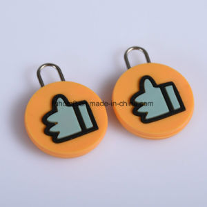 Custom Garment Soft PVC Rubber Zipper Pull pictures & photos