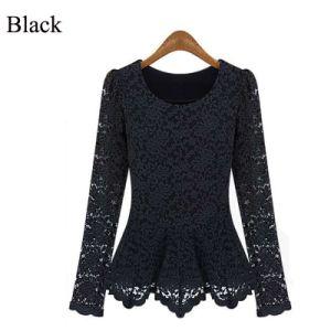 Lace Blouse Shirt Women Blusas Fashion Long Sleeve Woman Clothe pictures & photos