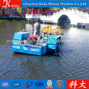 Diesel Engine Driven Semi Automatic Duckweed Harvester pictures & photos