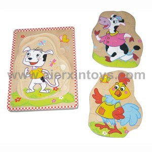 Wooden Puzzle with Three Layer Puzzle Pieces (81305, 81340, 81341) pictures & photos