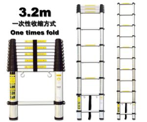 Telescopic Ladder (AL-019-3.2M) - EN131/SGS, GS/TUV, PAHS, REACH, BSCI