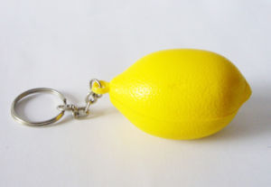 PU Lime Stress Ball Keychain (PSLK910271)