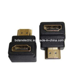 Right Angled Male to Female HDMI Adapter pictures & photos