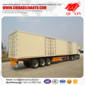Heavy Duty Truck 50ton Capacity Container Trailer with Mechanical Suspension pictures & photos