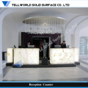 Acrylic Solid Surface Bar Counter Design (TW-MART-075) pictures & photos