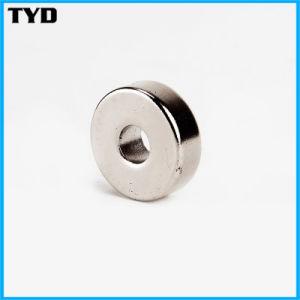 Ni-Cu-Ni Coating N50 Strong Ring NdFeB Permanent Magnet