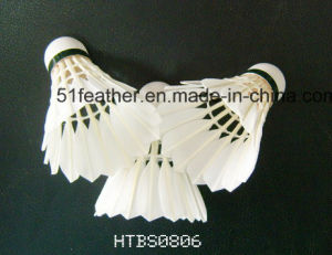 Goose/Duck Feather Badminton Shuttlecocks with 2 Layers Cork Wood Head for Sports and Training pictures & photos