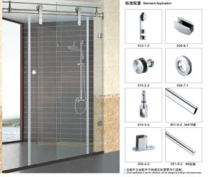 Glass Single Sliding Door Hardware B010 Use for Bathroom pictures & photos