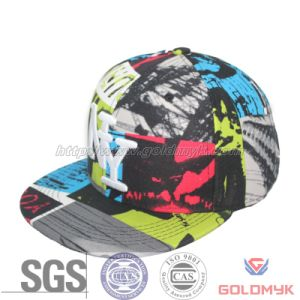 Cotton Flat Bill Cap with Logo Embroidery (GKA15-A00031) pictures & photos