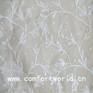 Flocking Curtain Fabric (SHCL00147) pictures & photos