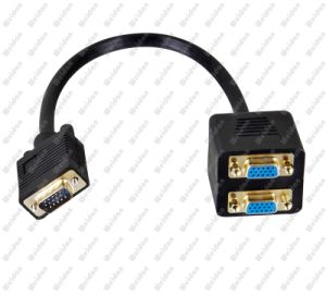 Premium VGA Male to 2 * VGA Female Splitter Adapter Cable pictures & photos