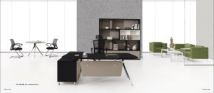 L-Shaped Melamine Office Staff Desk for Executive pictures & photos