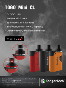 Ladies Lover Kangertech Electronic Cigarette  Togo Mini CL Kit pictures & photos