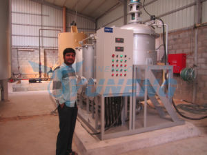 Yuneng Waste Tyre Oil Reprocessing Machinery pictures & photos