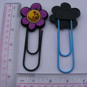 Soft PVC 3D Flower Design Paper Clip (ASNY-BM-CZ-160) pictures & photos