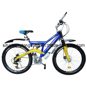 26 Blue Suspension Mountain Bicycle with Good Quality MTB-073 pictures & photos
