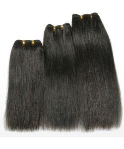 10inch, Yaki Human Hair Weft, Black Color